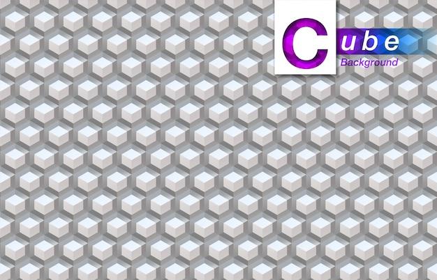 Cube abstrait blanc.
