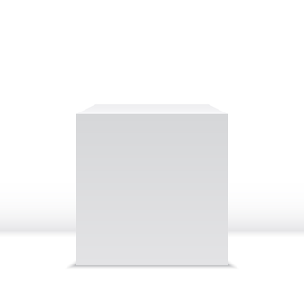 Cube blanc. boîte. illustration.