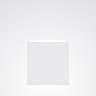 Cube blanc. boîte. .