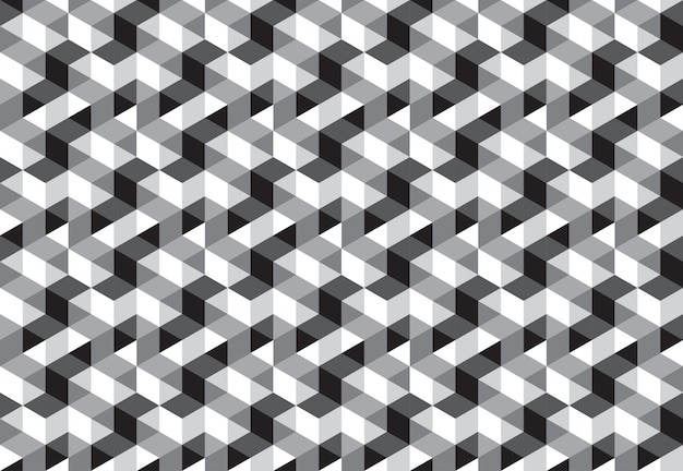 Cube block seamless pattern