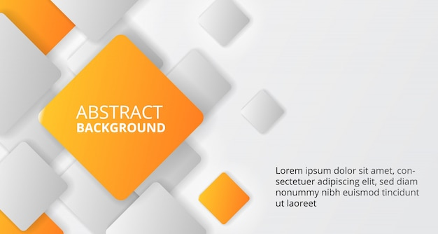 Cube carré orange modèle de fond pour les entreprises