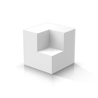 Cube en coupe