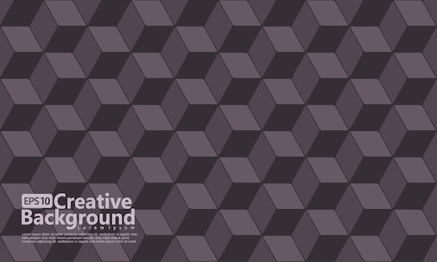 Cube hexagonal forme géométrique, couleur noire.