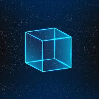 Cube de verre bleu