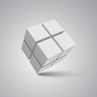 Cubes blancs. illustration.