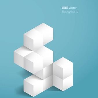 Cubes blancs réalistes