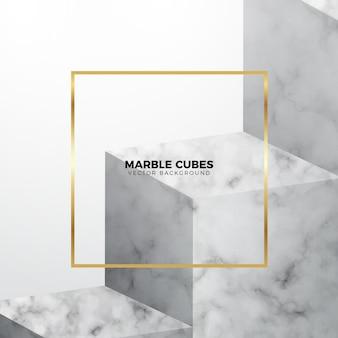 Cubes de marbre blanc fond élégant