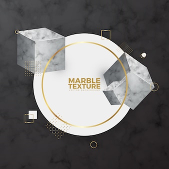 Cubes de marbre fond à la mode