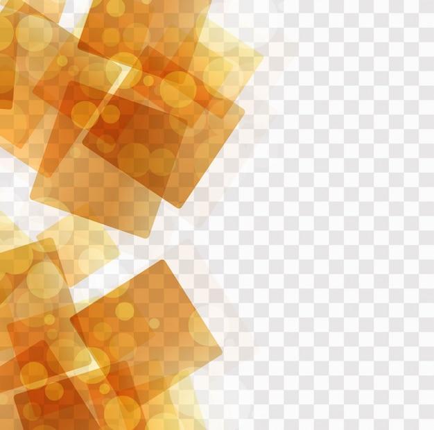 Cubes orange abstraits sur fond transparent