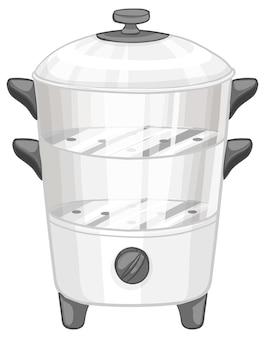 Cuiseur vapeur isolé sur fond blanc
