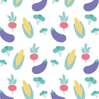 Cuisine de fond de légumes, menu de restaurant nourriture végétarienne fraîche