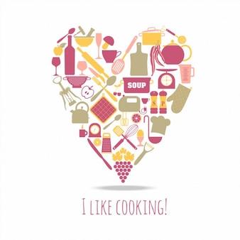 Cuisine icon set