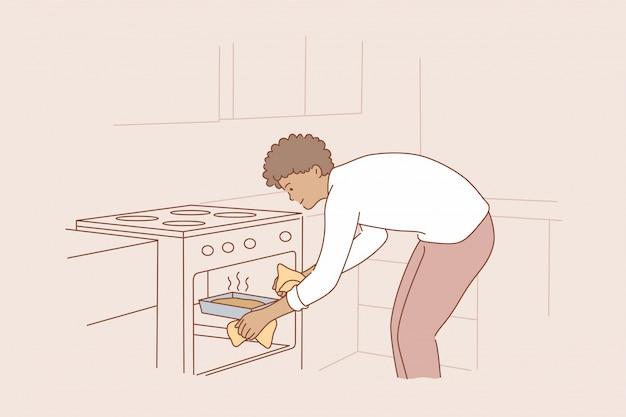 Cuisine, nourriture, passe-temps, concept de travaux ménagers