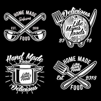 Cuisine trucs logo vector set illustration