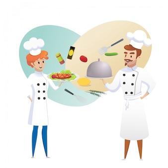 Culinaire concept illustration restaurant