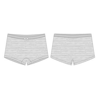 Culotte femme. mini culotte courte en tissu chiné pour enfant