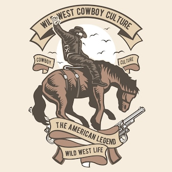 Culture de cow-boy du far west