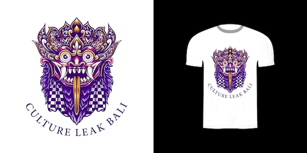Culture fuite bali impression pour la conception de tshirt