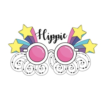 Culture hippie de la paix et de l'amour au style de vie
