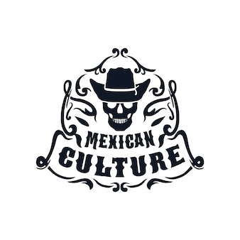 Culture mexicaine, isolée sur fond blanc