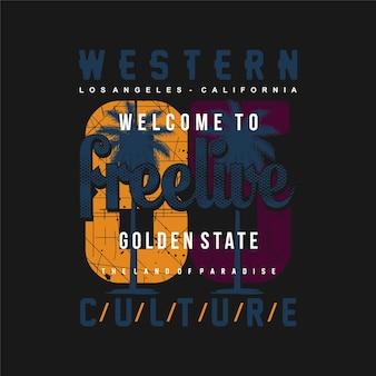 Culture occidentale conception graphique surf typographie t-shirt vecteurs aventure estivale