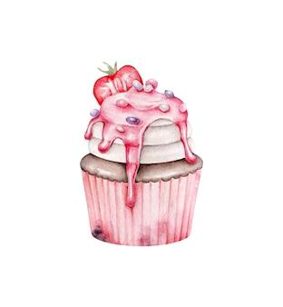 Cupcake aquarelle