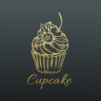 Cupcake dessiné à la main