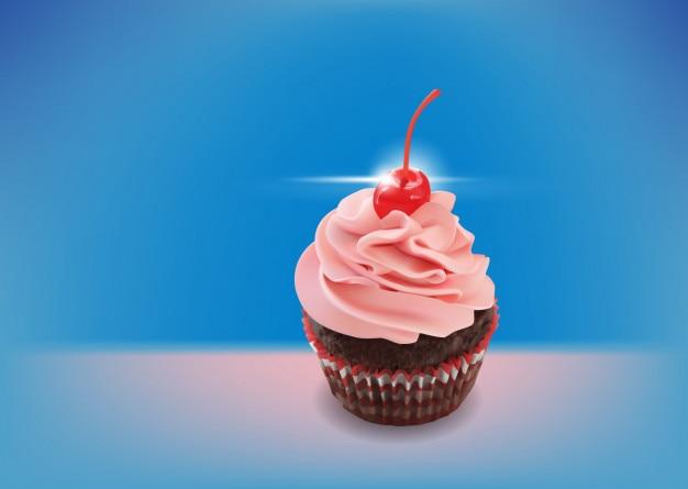 Cupcake à la framboise au chocolat noir
