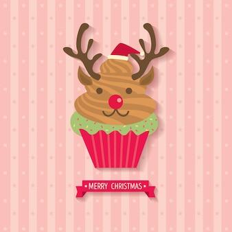 Cupcake de renne illustration vectorielle