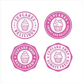 Cupcakes design premium collection de timbres