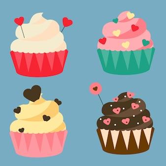 Cupcakes romantiques.