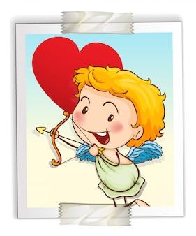 Cupidon avec arc et flèche