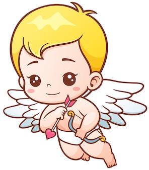 Cupidon avec des flèches et des oignons