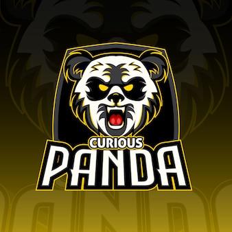 Curious panda esport logo gaming
