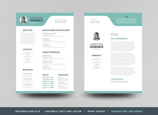 Curriculum vitaeune conception de modèle de cv de cv ou des détails personnels pour une demande d'emploi