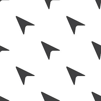 Curseur de flèche, modèle sans couture de vecteur, modifiable peut être utilisé pour les arrière-plans de pages web, les remplissages de motifs