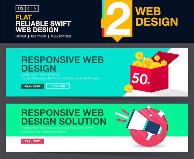 Curseur web ou concepts de conception de bannières pour votre site web.