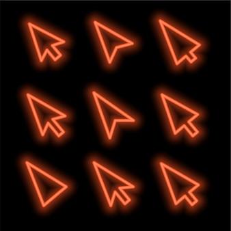 Curseurs en style néon