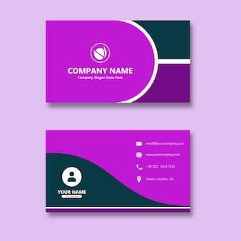 Curve purple carte de visite