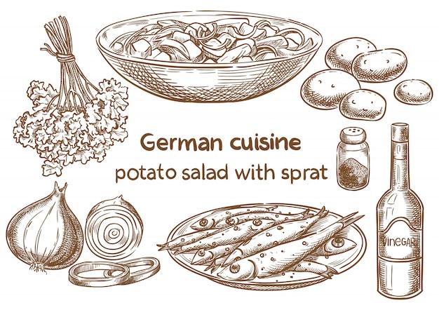 Cusine allemande.
