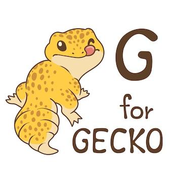 Cute animal alphabet series az pour les enfants. illustration de conception de personnage de dessin animé de vecteur.