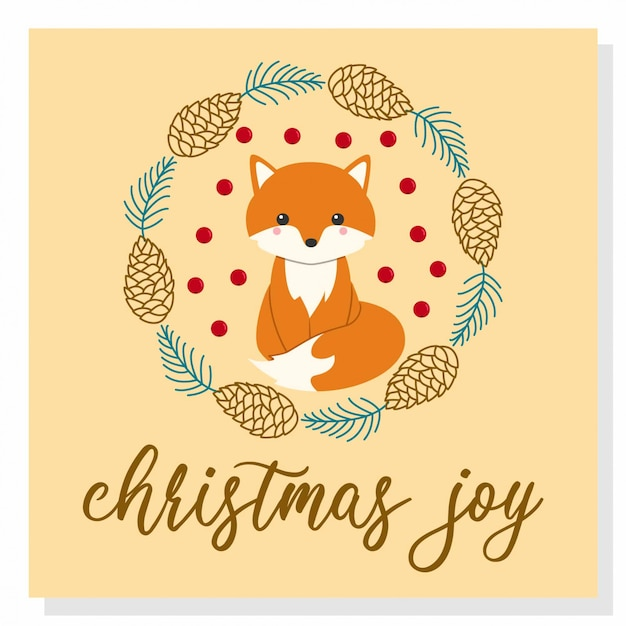 Cute christmas fox