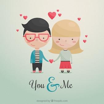 Cute couple dans l'amour