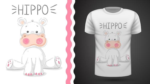 Cute hippo - idée d'un t-shirt imprimé