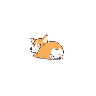 Cute welsh corgi regardant illustration vectorielle
