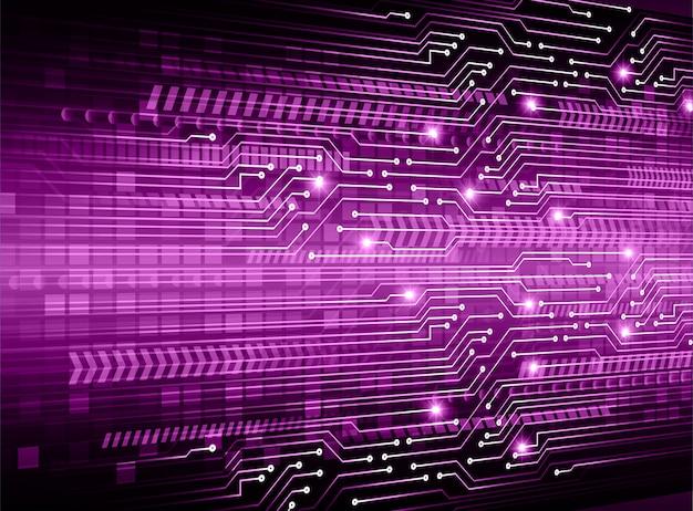 Cyber circuit violet futur fond de concept de technologie