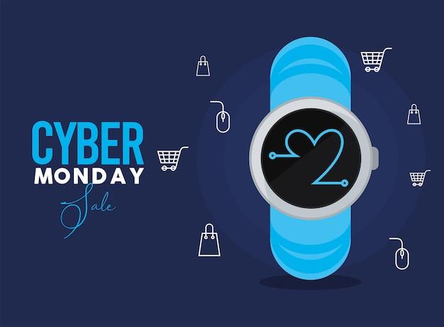 Cyber lundi dans smartwatch