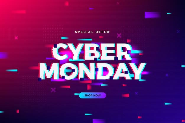 Cyber lundi glitch coloré