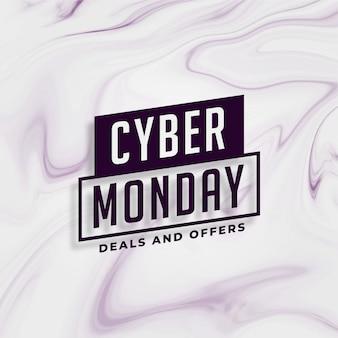 Cyber lundi offres élégantes et conception de bannière offre