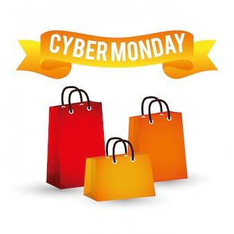 Cyber lundi promotions et ventes en ligne